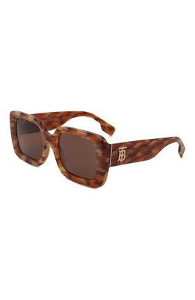 Женские солнцезащитные очки BURBERRY коричневого цвета, арт. 4327-391573   Фото 1 (Тип очков: С/з; Очки форма: Квадратные; Оптика Гендер: оптика-женское)
