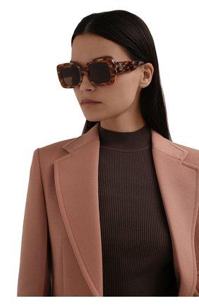 Женские солнцезащитные очки BURBERRY коричневого цвета, арт. 4327-391573   Фото 2 (Тип очков: С/з; Очки форма: Квадратные; Оптика Гендер: оптика-женское)
