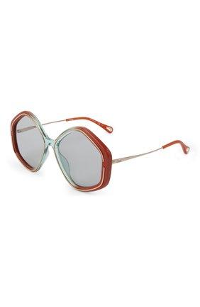 Женские солнцезащитные очки CHLOÉ разноцветного цвета, арт. CH0061S | Фото 1 (Тип очков: С/з; Оптика Гендер: оптика-женское; Очки форма: Круглые)