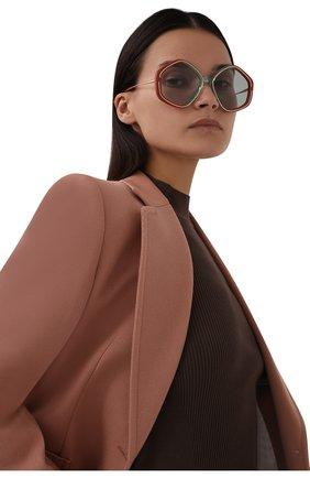 Женские солнцезащитные очки CHLOÉ разноцветного цвета, арт. CH0061S | Фото 2 (Тип очков: С/з; Оптика Гендер: оптика-женское; Очки форма: Круглые)