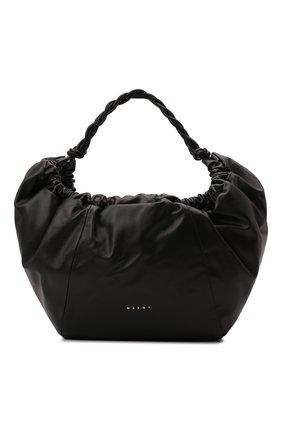 Женская сумка twirl medium MARNI черного цвета, арт. SCMP0070Y0/P4092 | Фото 1 (Размер: medium; Материал: Натуральная кожа; Сумки-технические: Сумки top-handle)