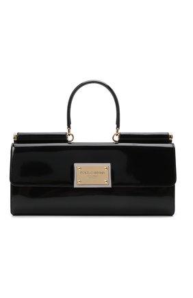 Женская сумка sicily DOLCE & GABBANA черного цвета, арт. BB7007/A1037 | Фото 1 (Материал: Натуральная кожа; Размер: large; Сумки-технические: Сумки top-handle)