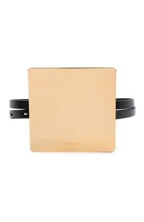Женский кожаный пояс JIL SANDER черного цвета, арт. JSWT800433-WTS69158 | Фото 1 (Кросс-КТ: Тонкие)
