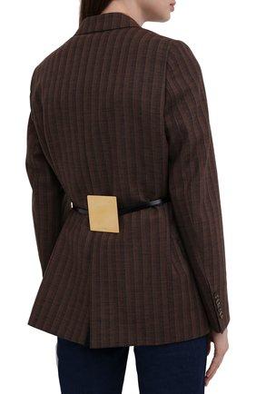 Женский кожаный пояс JIL SANDER черного цвета, арт. JSWT800433-WTS69158 | Фото 2 (Кросс-КТ: Тонкие)