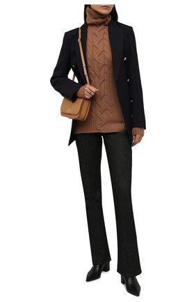 Женская кашемировая водолазка KITON бежевого цвета, арт. D52723549 | Фото 2 (Материал внешний: Шерсть, Кашемир; Стили: Кэжуэл; Женское Кросс-КТ: Водолазка-одежда; Рукава: Длинные; Длина (для топов): Стандартные)