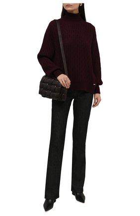 Женская водолазка из кашемира и шелка KITON бордового цвета, арт. D52705327 | Фото 2 (Материал внешний: Кашемир, Шерсть, Шелк; Рукава: Длинные; Длина (для топов): Стандартные; Стили: Кэжуэл; Женское Кросс-КТ: Водолазка-одежда)