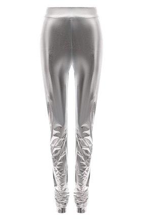 Женские леггинсы DOLCE & GABBANA серебряного цвета, арт. FTCAFT/FUGMH | Фото 1 (Длина (брюки, джинсы): Удлиненные; Материал внешний: Синтетический материал; Стили: Гламурный; Женское Кросс-КТ: Леггинсы-одежда)
