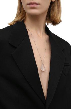 Женская кулон на цепочке BOTTEGA VENETA серебряного цвета, арт. 676420/V0GDI   Фото 2 (Материал: Серебро)