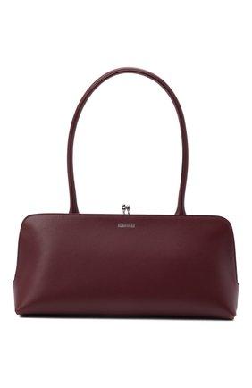 Женская сумка goji small JIL SANDER бордового цвета, арт. JSWT856460-WTB00112N | Фото 1 (Материал: Натуральная кожа; Размер: small; Сумки-технические: Сумки top-handle)
