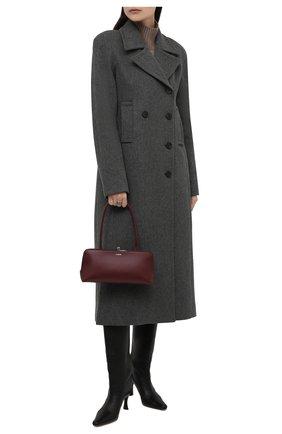 Женская сумка goji small JIL SANDER бордового цвета, арт. JSWT856460-WTB00112N | Фото 2 (Материал: Натуральная кожа; Размер: small; Сумки-технические: Сумки top-handle)