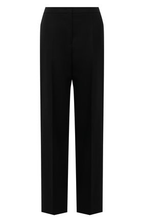 Женские шерстяные брюки JIL SANDER черного цвета, арт. JSWT306321-WT201000A | Фото 1 (Длина (брюки, джинсы): Стандартные; Материал внешний: Шерсть; Стили: Минимализм; Женское Кросс-КТ: Брюки-одежда; Силуэт Ж (брюки и джинсы): Прямые)