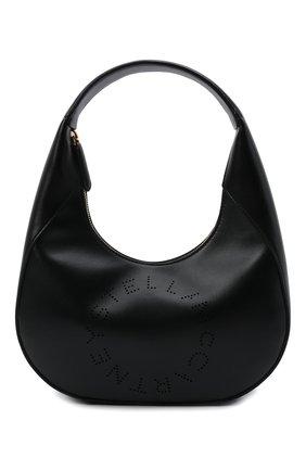 Женская сумка stella logo small STELLA MCCARTNEY черного цвета, арт. 700269/W8542 | Фото 1 (Материал: Текстиль, Экокожа; Размер: small; Сумки-технические: Сумки top-handle)