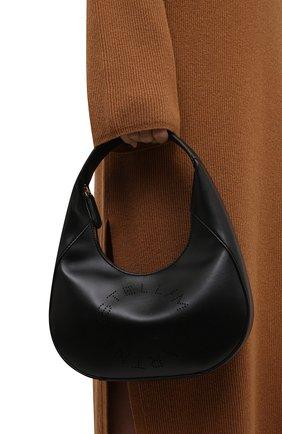 Женская сумка stella logo small STELLA MCCARTNEY черного цвета, арт. 700269/W8542 | Фото 2 (Материал: Текстиль, Экокожа; Размер: small; Сумки-технические: Сумки top-handle)
