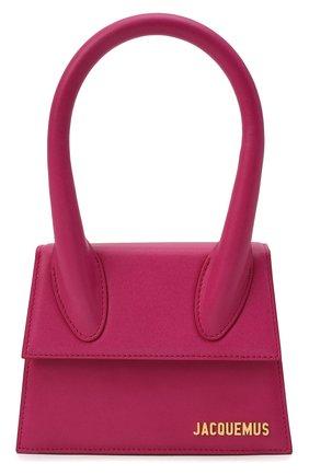 Женская сумка le chiquito JACQUEMUS розового цвета, арт. 213BA02/302450 | Фото 1 (Ремень/цепочка: На ремешке; Размер: mini; Материал: Натуральная кожа; Сумки-технические: Сумки top-handle)
