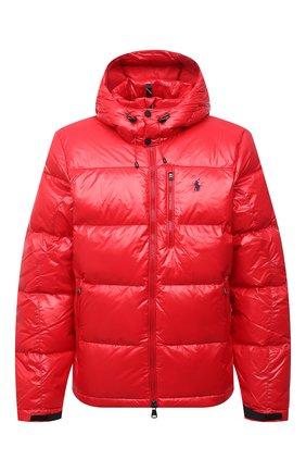 Мужская пуховая куртка POLO RALPH LAUREN красного цвета, арт. 710849776   Фото 1 (Длина (верхняя одежда): Короткие; Материал утеплителя: Пух и перо; Материал подклада: Синтетический материал; Рукава: Длинные; Материал внешний: Синтетический материал; Кросс-КТ: Куртка; Мужское Кросс-КТ: пуховик-короткий; Стили: Спорт-шик)