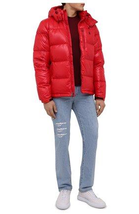 Мужская пуховая куртка POLO RALPH LAUREN красного цвета, арт. 710849776   Фото 2 (Длина (верхняя одежда): Короткие; Материал утеплителя: Пух и перо; Материал подклада: Синтетический материал; Рукава: Длинные; Материал внешний: Синтетический материал; Кросс-КТ: Куртка; Мужское Кросс-КТ: пуховик-короткий; Стили: Спорт-шик)