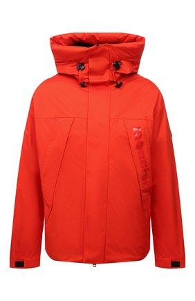 Мужская пуховая куртка dilliers MONCLER оранжевого цвета, арт. G2-091-1A001-47-539HW | Фото 1 (Материал внешний: Синтетический материал; Материал утеплителя: Пух и перо; Материал подклада: Синтетический материал; Кросс-КТ: Куртка; Мужское Кросс-КТ: пуховик-короткий; Длина (верхняя одежда): Короткие; Рукава: Длинные; Стили: Спорт-шик)