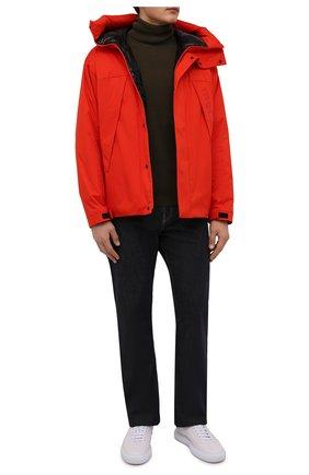Мужская пуховая куртка dilliers MONCLER оранжевого цвета, арт. G2-091-1A001-47-539HW | Фото 2 (Материал внешний: Синтетический материал; Материал утеплителя: Пух и перо; Материал подклада: Синтетический материал; Кросс-КТ: Куртка; Мужское Кросс-КТ: пуховик-короткий; Длина (верхняя одежда): Короткие; Рукава: Длинные; Стили: Спорт-шик)