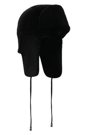Женская шапка-ушанка и меха норки KUSSENKOVV черного цвета, арт. 091510002093 | Фото 1 (Материал: Натуральный мех)
