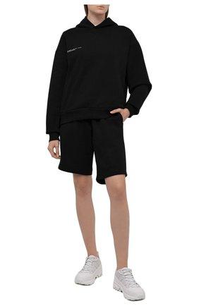 Мужского хлопковые шорты PANGAIA черного цвета, арт. 21FSU11B-001-FEM002 | Фото 2 (Стили: Спорт-шик)