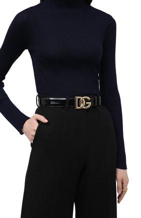 Женский ремень DOLCE & GABBANA черного цвета, арт. BE1466/AQ272 | Фото 2 (Материал: Экокожа)