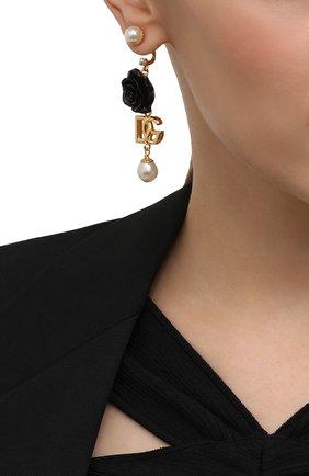 Женские серьги DOLCE & GABBANA золотого цвета, арт. WEN8R1/W1111 | Фото 2 (Материал: Металл)