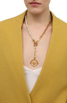 Женское колье DOLCE & GABBANA золотого цвета, арт. WNN8M1/W1111 | Фото 2 (Материал: Металл)