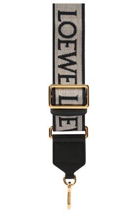 Женские ремень для сумки anagram LOEWE серого цвета, арт. C073T87X01 | Фото 2 (Материал: Текстиль; Кросс-КТ: ремень-сумка)