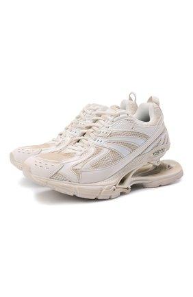 Женские комбинированные кроссовки x-pander BALENCIAGA кремвого цвета, арт. 653870/W2RA2 | Фото 1 (Подошва: Платформа; Материал внутренний: Текстиль; Материал внешний: Текстиль)