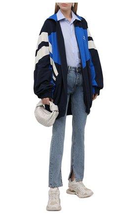Женские комбинированные кроссовки x-pander BALENCIAGA кремвого цвета, арт. 653870/W2RA2 | Фото 2 (Подошва: Платформа; Материал внутренний: Текстиль; Материал внешний: Текстиль)
