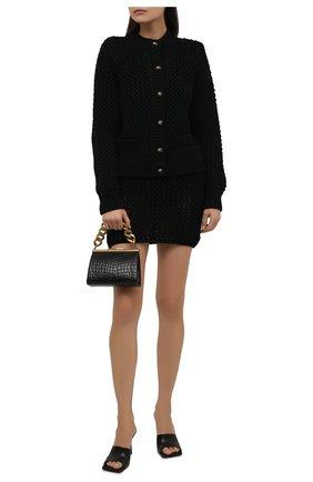 Женская шерстяная юбка DOLCE & GABBANA черного цвета, арт. FXD54T/JBVC2 | Фото 2 (Длина Ж (юбки, платья, шорты): Мини; Материал внешний: Шерсть; Женское Кросс-КТ: Юбка-одежда; Кросс-КТ: Трикотаж; Стили: Романтичный)