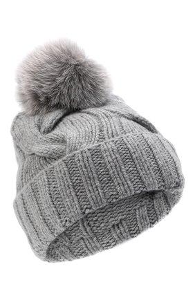 Женская кашемировая шапка courchevel LORO PIANA серого цвета, арт. FAI3621 | Фото 1 (Материал: Шерсть, Кашемир)