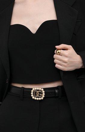Женский кожаный ремень DOLCE & GABBANA черного цвета, арт. BE1480/AQ627 | Фото 2