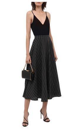 Женское боди JIL SANDER черного цвета, арт. JSWT705043-WT477108 | Фото 2 (Материал внешний: Синтетический материал; Женское Кросс-КТ: Боди-одежда; Стили: Минимализм)