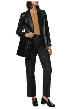 Женское боди JIL SANDER бежевого цвета, арт. JSWT705041-WT477108 | Фото 2 (Материал внешний: Синтетический материал; Женское Кросс-КТ: Боди-одежда; Стили: Минимализм)