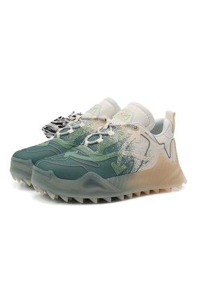 Мужские текстильные кроссовки odsy-1000 OFF-WHITE светло-зеленого цвета, арт. 0MIA139F21FAB0010455 | Фото 1 (Материал внутренний: Текстиль; Подошва: Массивная; Материал внешний: Текстиль; Стили: Гранж)