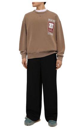 Мужские текстильные кроссовки odsy-1000 OFF-WHITE светло-зеленого цвета, арт. 0MIA139F21FAB0010455 | Фото 2 (Материал внутренний: Текстиль; Подошва: Массивная; Материал внешний: Текстиль; Стили: Гранж)