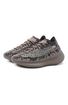 Мужские кроссовки yeezy boost 380 stone salt ADIDAS ORIGINALS коричневого цвета, арт. GZ0472   Фото 1 (Стили: Спорт; Материал внешний: Текстиль; Материал внутренний: Текстиль)
