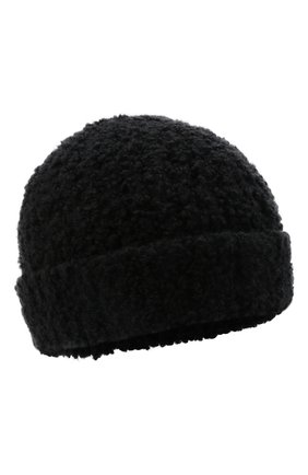 Мужская шапка из шерсти и шелка BRIONI черного цвета, арт. 04M80L/01K26   Фото 1 (Материал: Шерсть; Кросс-КТ: Трикотаж)