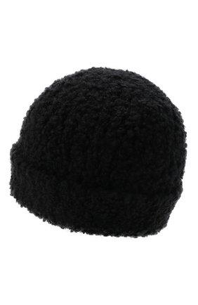 Мужская шапка из шерсти и шелка BRIONI черного цвета, арт. 04M80L/01K26   Фото 2 (Материал: Шерсть; Кросс-КТ: Трикотаж)
