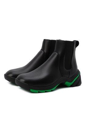 Мужские кожаные челси flash BOTTEGA VENETA черного цвета, арт. 668586/VBSD0 | Фото 1 (Материал внутренний: Натуральная кожа, Текстиль; Подошва: Плоская; Мужское Кросс-КТ: Сапоги-обувь, Челси-обувь; Каблук высота: Высокий)