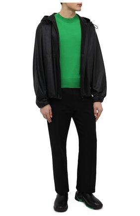 Мужские кожаные челси flash BOTTEGA VENETA черного цвета, арт. 668586/VBSD0 | Фото 2 (Материал внутренний: Натуральная кожа, Текстиль; Подошва: Плоская; Мужское Кросс-КТ: Сапоги-обувь, Челси-обувь; Каблук высота: Высокий)