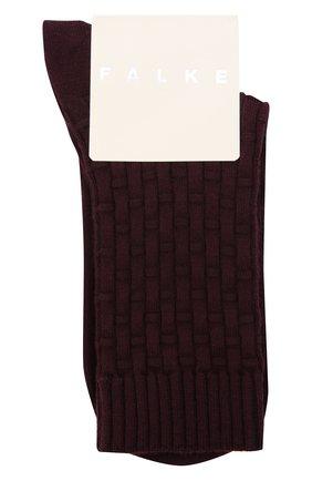 Женские носки из хлопка и шерсти FALKE красного цвета, арт. 46494   Фото 1 (Материал внешний: Хлопок)