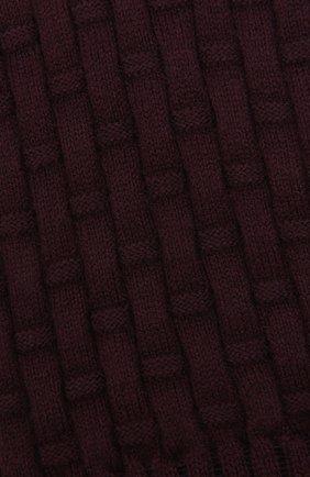Женские носки из хлопка и шерсти FALKE красного цвета, арт. 46494   Фото 2 (Материал внешний: Хлопок)