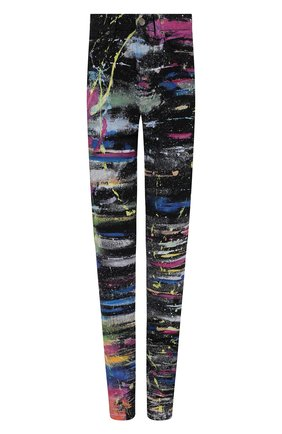 Женские джинсы DOLCE & GABBANA разноцветного цвета, арт. FTCB0D/G903H | Фото 1 (Материал внешний: Хлопок; Длина (брюки, джинсы): Удлиненные; Стили: Гламурный; Кросс-КТ: Деним; Силуэт Ж (брюки и джинсы): Скинни)