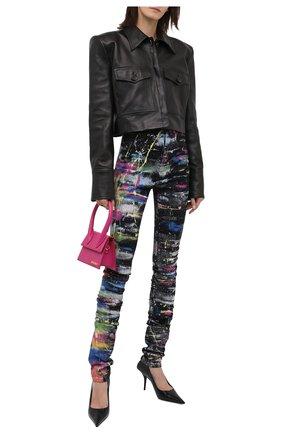 Женские джинсы DOLCE & GABBANA разноцветного цвета, арт. FTCB0D/G903H | Фото 2 (Материал внешний: Хлопок; Длина (брюки, джинсы): Удлиненные; Стили: Гламурный; Кросс-КТ: Деним; Силуэт Ж (брюки и джинсы): Скинни)