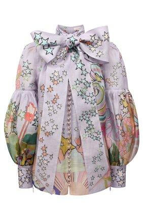 Блузка изо льна и шелка | Фото №1