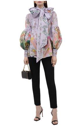 Блузка изо льна и шелка | Фото №2