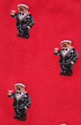 Женские носки POLO RALPH LAUREN красного цвета, арт. 455855678   Фото 2 (Материал внешний: Хлопок)