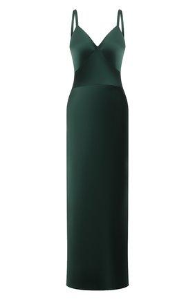 Женское платье POLO RALPH LAUREN зеленого цвета, арт. 211815362 | Фото 1 (Материал внешний: Синтетический материал; Длина Ж (юбки, платья, шорты): Макси; Стили: Гламурный; Случай: Вечерний; Женское Кросс-КТ: Сарафаны)